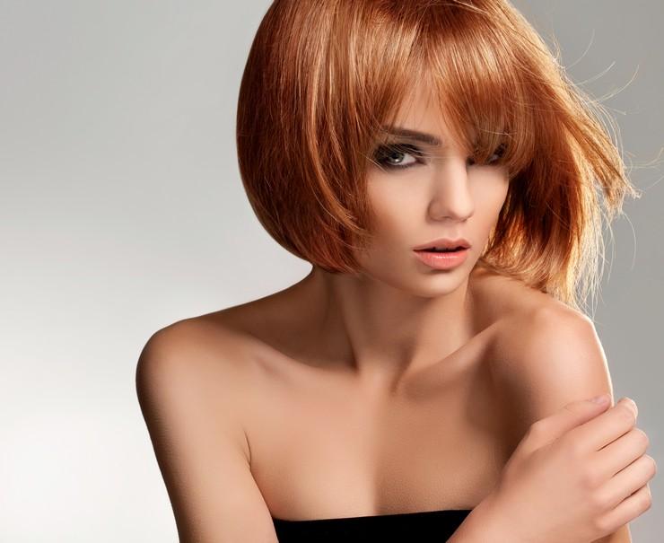 Варианты покраски коротких волос