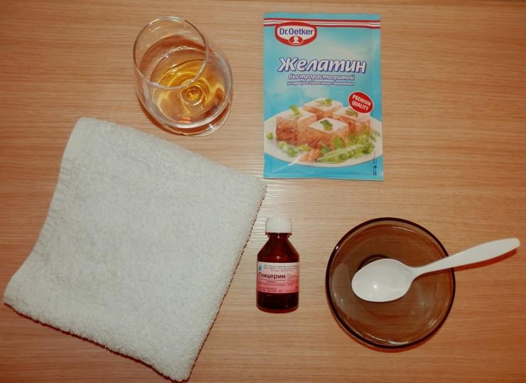 Маска для волос с глицерином и желатином