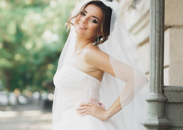 Свадебное платье по материалу