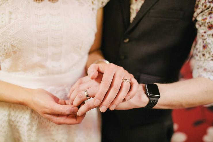 Жених и невеста синий костюм