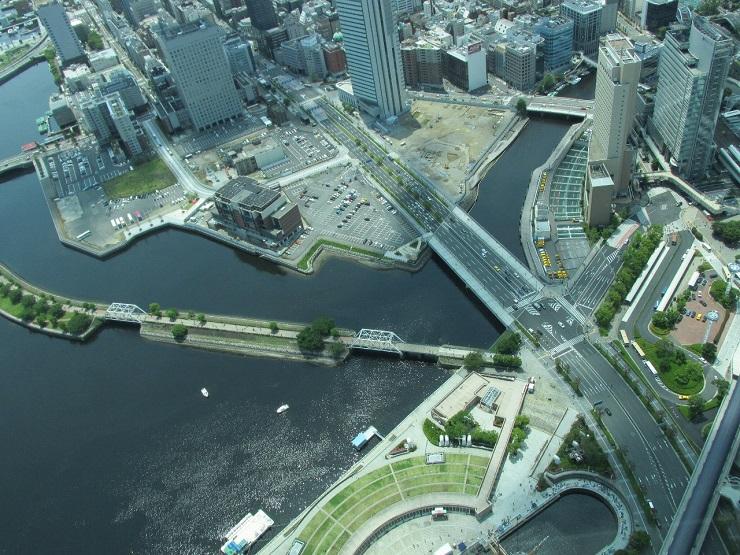 вид на Иокохаму с обзорной площадки