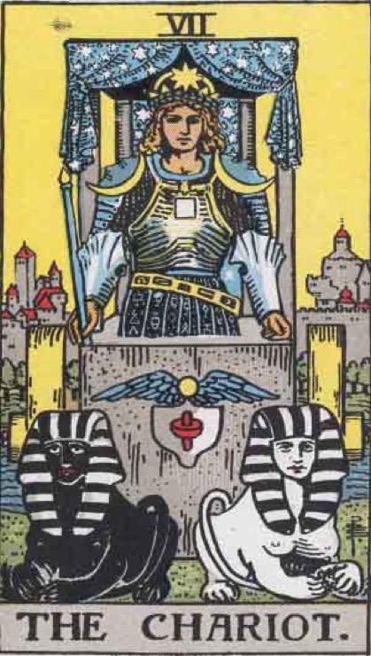 Символы бытовых ситуаций. Старшие Арканы: Влюблённые, Колесница, Справедливость, Отшельник